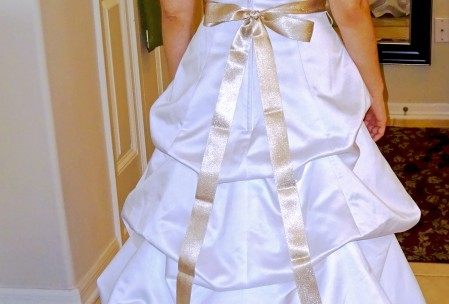 bustle wedding gown alterations