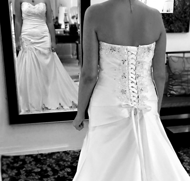 black and white wedding dress photography gown alterations