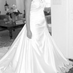 long cathedral train wedding gowns