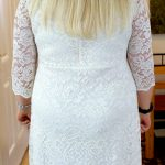 short lace wedding gown mature bride