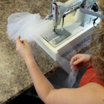 Tulle Crinoline Ruffled on Johnson Ruffling Machine