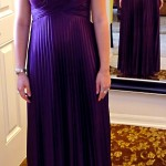 homecoming dress long gown purple